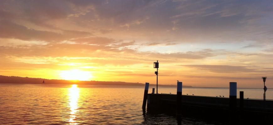 Morgensonne:Fähre